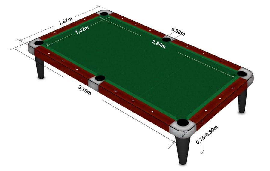 Snooker Table Size And Dimensions For Room Official Website Of Central - What Size Room Do You Need For A Standard Pool Table